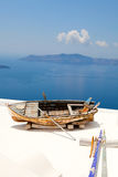 Old rowing boat in Santorini, Greece Stock Image