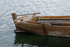 Old rowing boat Stock Images