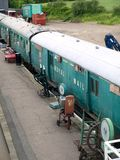 Nene Valley Railway. Old Royal mail  rolling stock carriages at Wansford Station at Nene Valley railway Royalty Free Stock Photos