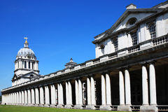 Old Royal Naval College. Designed by Sir Christopher Wren and built between 1696-1712 as Greenwich Hospital in Greenwich, England, UK, the Old Royal Naval Royalty Free Stock Image