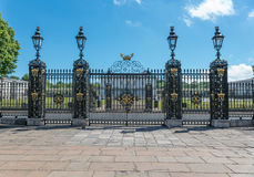 Old Royal Navel College Gates stock photos