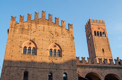The old royal palace of Bologna in Italy Stock Photo