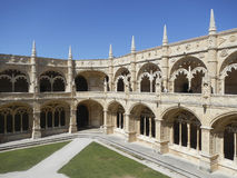 Old royal palace from white stone stock photo