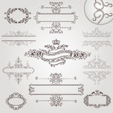 Old royal vintage banner border frame Royalty Free Stock Photo