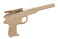 Old rubber band gun Stock Image