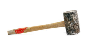 Old rubber hammer Stock Images