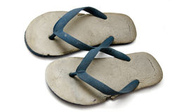 Old rubber slippers Royalty Free Stock Photos