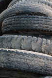 Old rubber tire. Pile of used old rubber tire stock photography