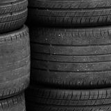 Old rubber tires Stock Images