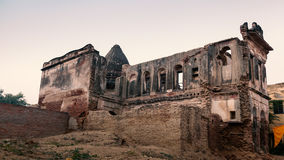 Old rubbish religious building. Stock Image