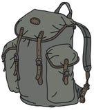 Old rucksack stock illustration