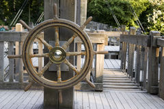 Old Rudder. From an old ship in the park Royalty Free Stock Images