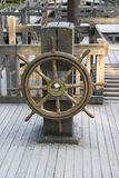 Old Rudder. From an old ship in the park Stock Photos