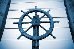 Old rudder. Antique architectural ornaments Stock Photo