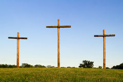 Old Rugged Cross and Horizon Royalty Free Stock Images