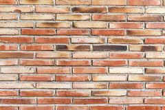 Old and rugged red brickwall Stock Images