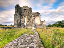 Old ruin. Medieval church ruin with alone old tree from Hungary Royalty Free Stock Photos