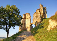 Old ruin castle in light of sunset Stock Photography