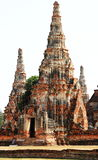 The old ruin of Chaiwattanaram temple,historic site in Ayuttaya Royalty Free Stock Photo