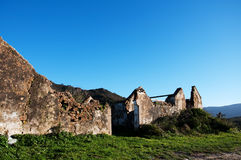 Old ruin. A derelict building in the countryside Royalty Free Stock Image