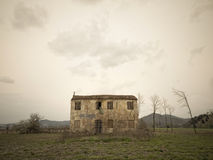Old ruin in a field Stock Photography