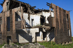 Old ruin house. An old ruin house, can not be repaired, so destroyed Royalty Free Stock Photos