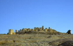 Old ruin of Marib in Yemen. Under clear blue sky Stock Photos