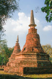 Old and ruin pagoda at Kamphaeng Phet Historical Park,Thailand Royalty Free Stock Photos