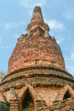 Old and ruin pagoda in Kamphaeng Phet Historical Park,Thailand Royalty Free Stock Images