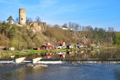 Old ruin in the South Bohemian. Old ruin Dobronice in the South Bohemian stock image