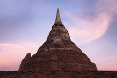 Old ruin stupa in thai temple Stock Photo