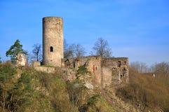 Old ruin in tne South Bohemian. Old ruin Dobronice in tne South Bohemian royalty free stock image