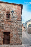 Old ruin wall, Collbato, Spain Royalty Free Stock Photography