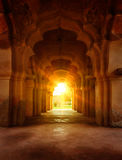 Old ruined arch in ancient palace at sunset Royalty Free Stock Images
