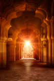 Old ruined arch in ancient palace at sunset Royalty Free Stock Photos