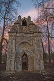 The old ruined arch in the Gothic style in Russia in the ruined manor Royalty Free Stock Photos