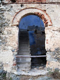 Old ruined arched doorway Stock Images