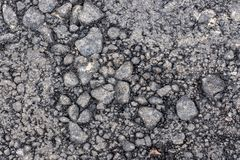 The old ruined asphalt pavement background texture. Waiting for repair Stock Photo