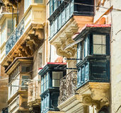 Old ruined balcony in Valletta Stock Photos