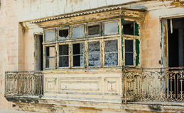 Old ruined balcony in Valletta Royalty Free Stock Photos