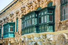 Old ruined balcony in Valletta Royalty Free Stock Image