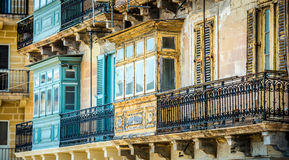 Old ruined balcony in Valletta Stock Images