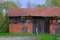 Old ruined barn Royalty Free Stock Photo