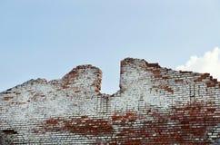 Old ruined brick wall Stock Image