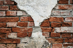 Old Ruined Brick Wall Stock Image