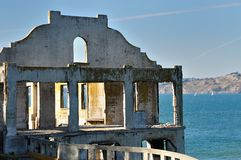 Old ruined building on Alcatraz Island, San Francisco Royalty Free Stock Photos