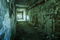 Old ruined building interior Stock Images