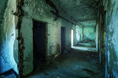 Old ruined building interior Stock Image