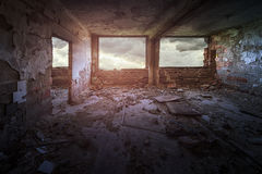 Old ruined building interior Royalty Free Stock Photos