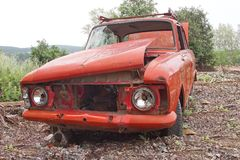 Old ruined car Stock Images